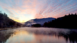 Kootenai River at sunrise