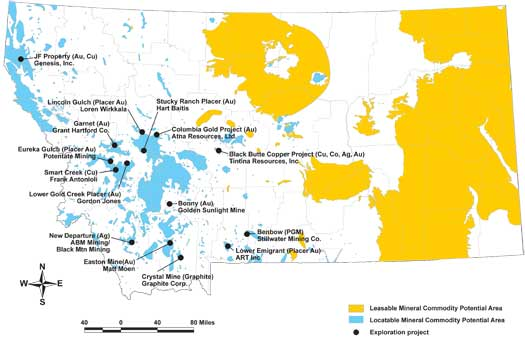 2012 Metal and Industrial mineral exploration in Montana