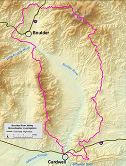 Boulder River Valley area map