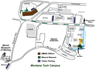 montana tech campus map Mbmg Office Location montana tech campus map